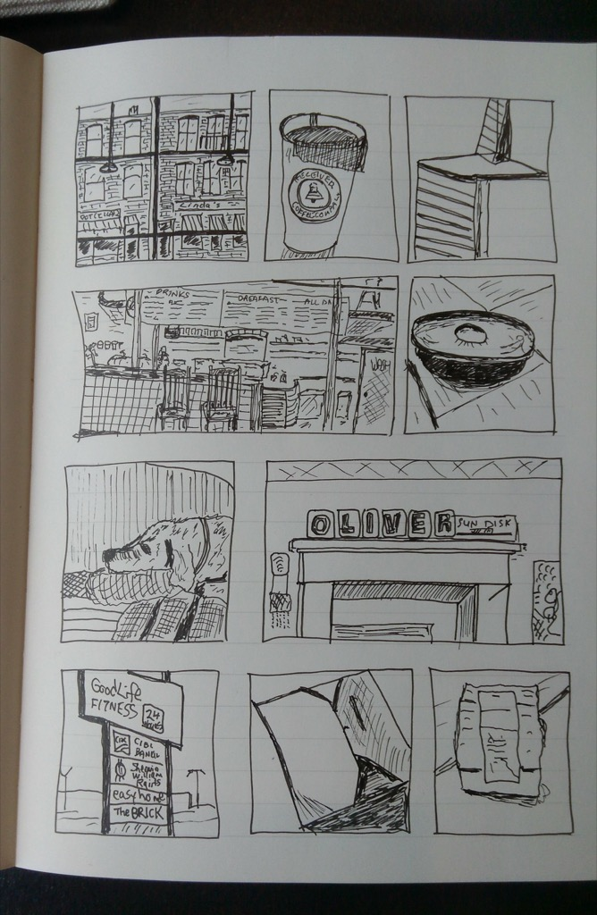 Sample page from my sketchbook.