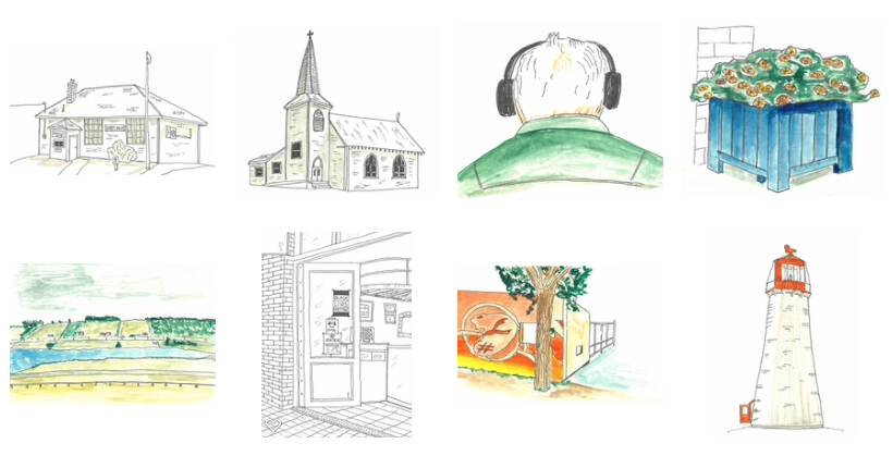 Screen shot of my tiny sketches in Photos app on my Mac
