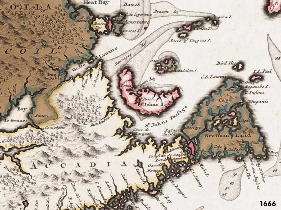 PEI Map, 1666