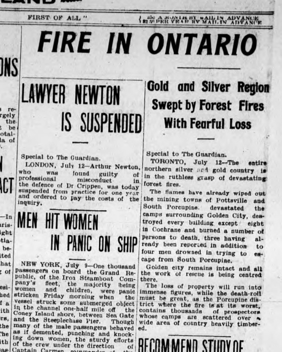 1911 Fire report in The Guardian