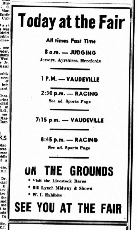 Today at the Fair ad from the 1955 Guardian