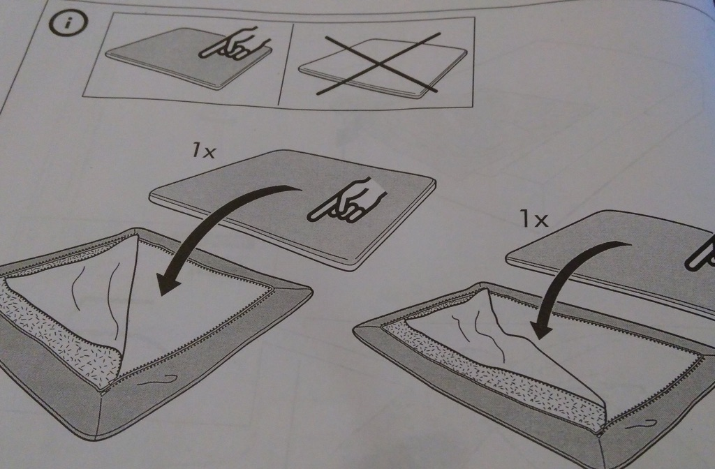 Snippet of Söderhamn instructions booklet from IKEA.