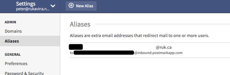 Fastmail Alias
