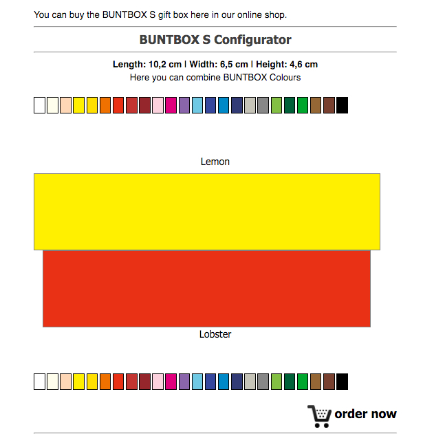 Buntbox Order Widget