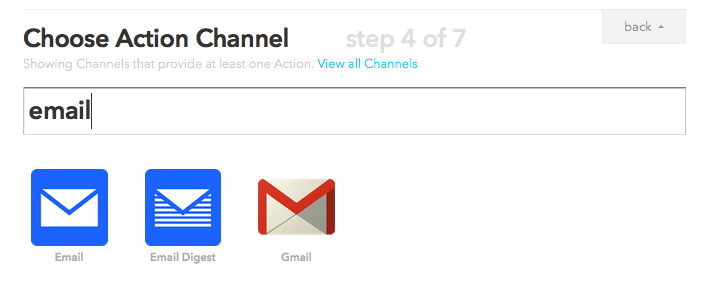 IFTTT email channels