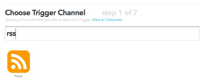 IFTTT RSS Channel