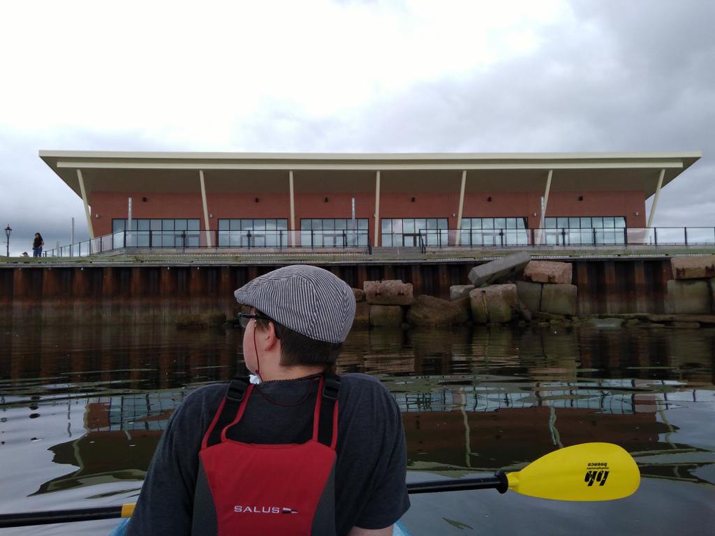 Oliver in a Kayak