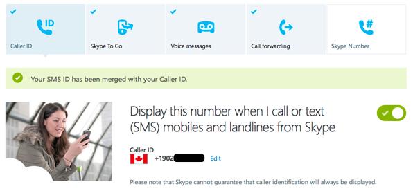 Skype Caller ID setting