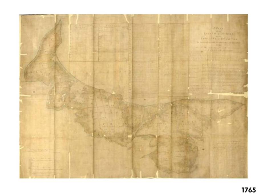 PEI Map 1765