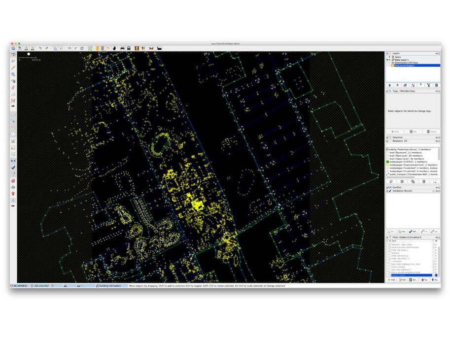 OpenStreetMap of UPEI in JOSM