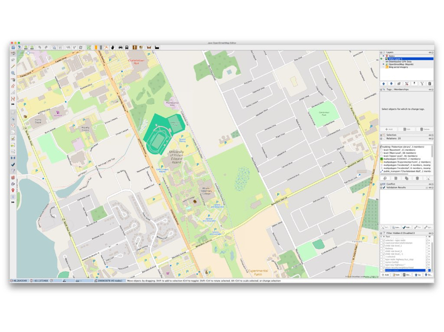 OpenStreetMap of the UPEI Campus