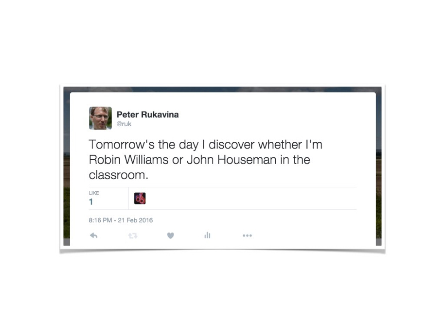 John Houseman vs. Robin Williams tweet