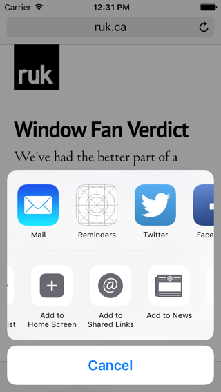 iOS Shared Links UI