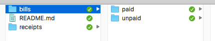 "Screen shot of ""financial"" folder in nextCloud"