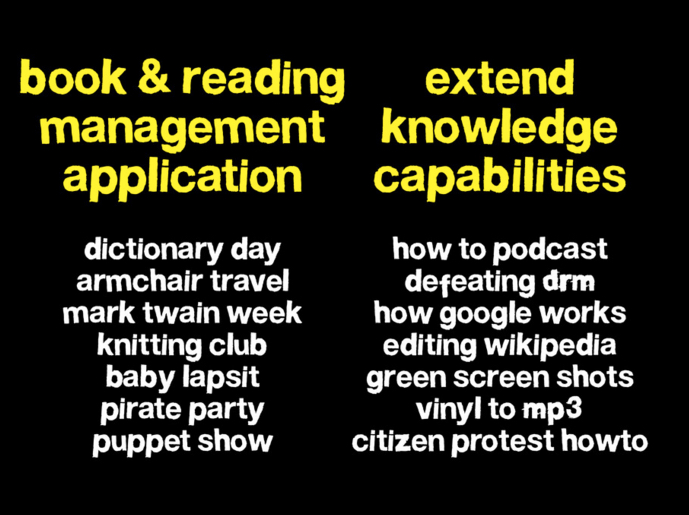 Applications vs. Capabilities slide, 2009