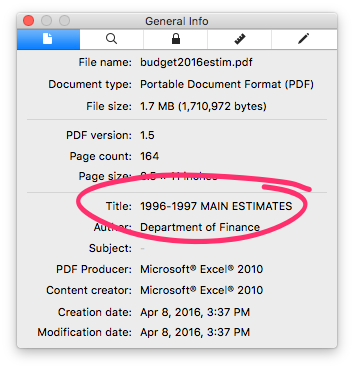 PDF info for Estimates file.