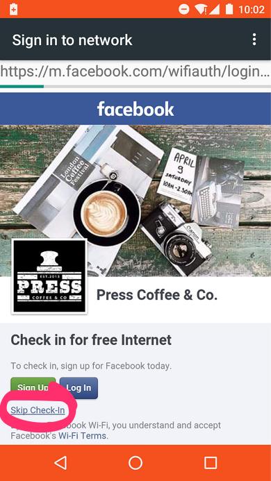 Facebook Wifi Skip