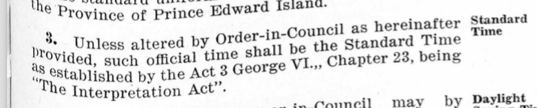 Section 3 of the An Act to Provide for Uniformity of Time Throughout the Province, 1947