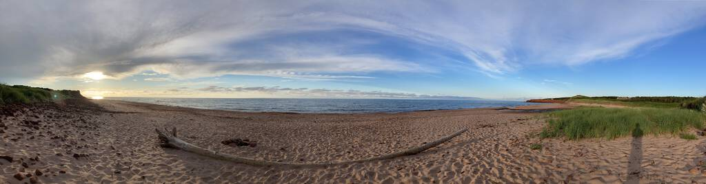 St. Margaret's Beach panorama.