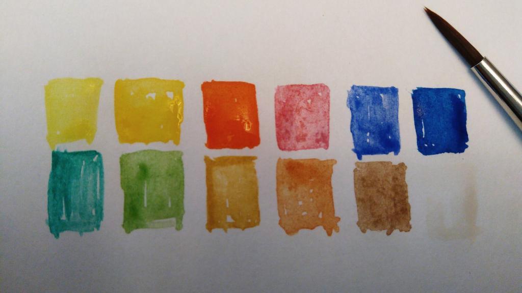 Watercolour test pattern