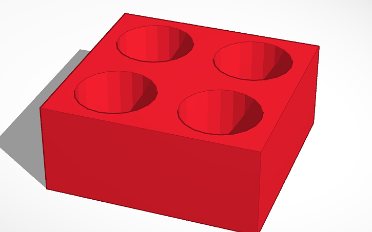 Tinkercad rendering of the ink vial holder.