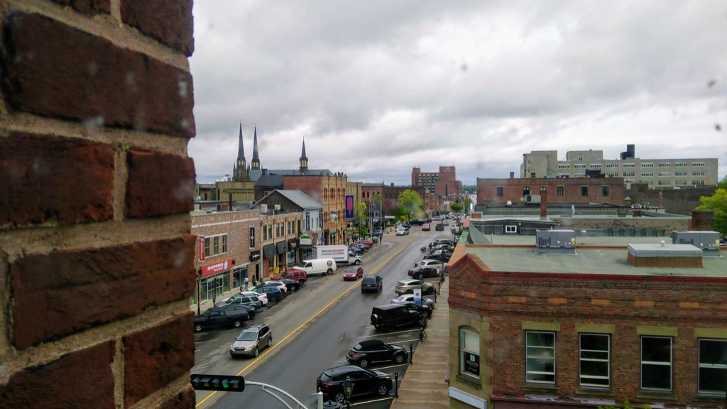 A view down Queen Street from City Hall.