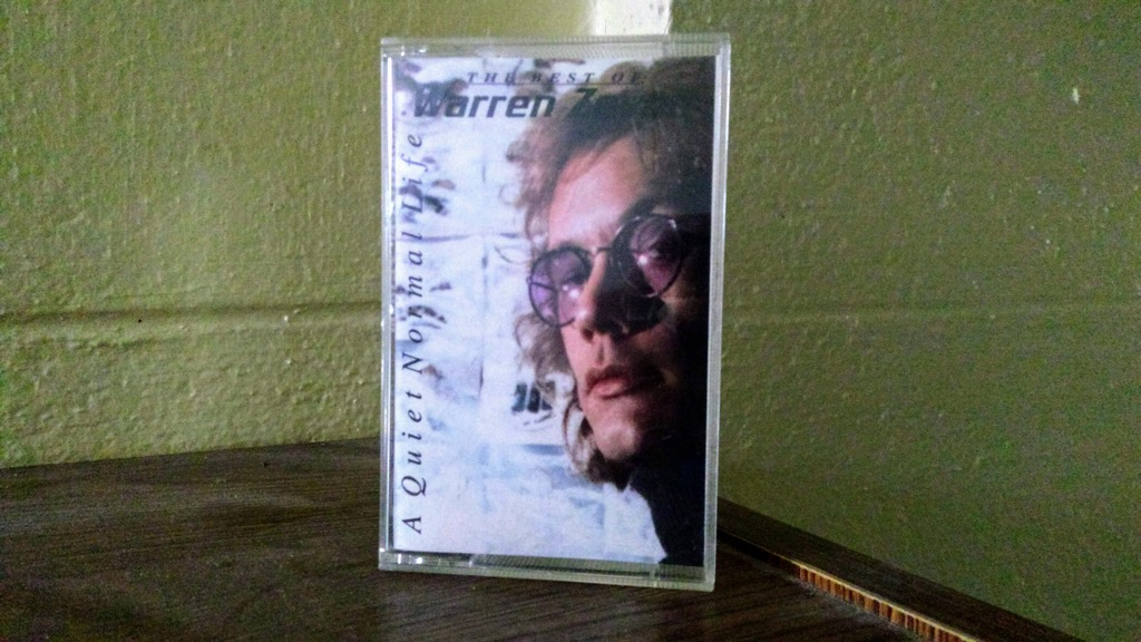 Photo of Warren Zevon cassette tape