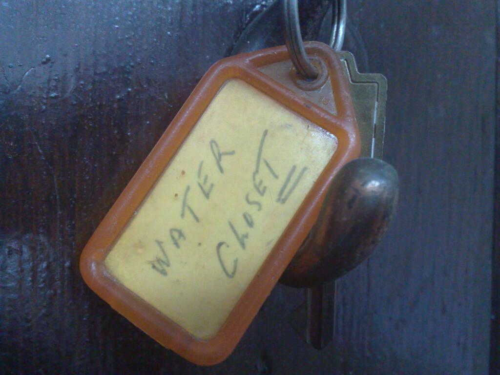 "Key to ""Water Closet"" at Catherine's Studio"
