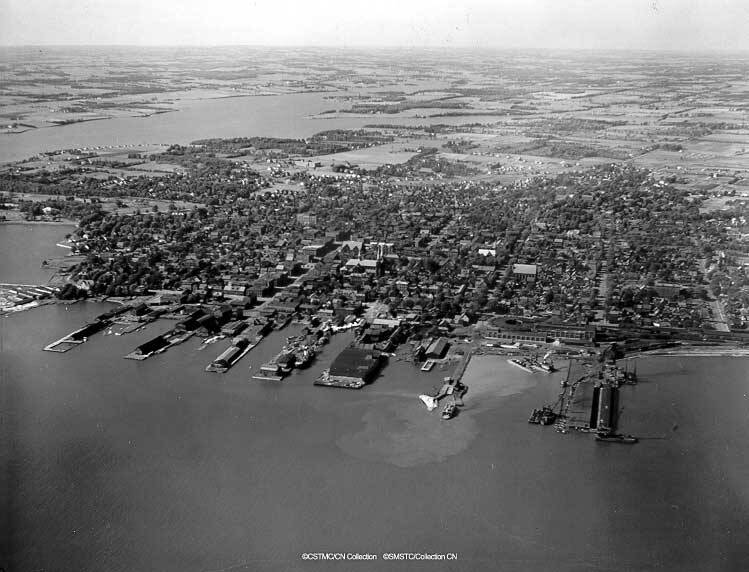 Aerial Photo of Charlottetown waterfront.