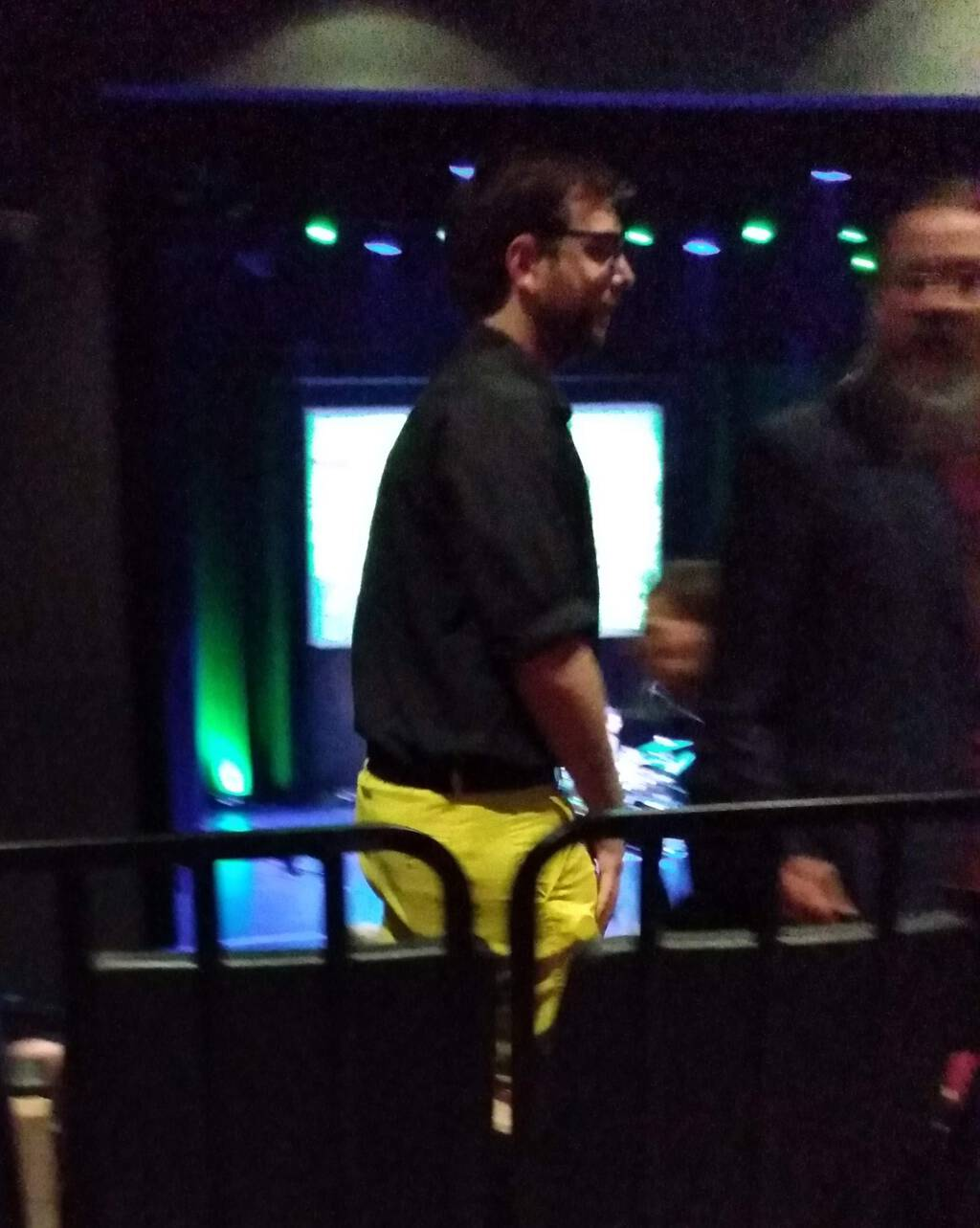 Alex Tyrrell and his yellow trousers